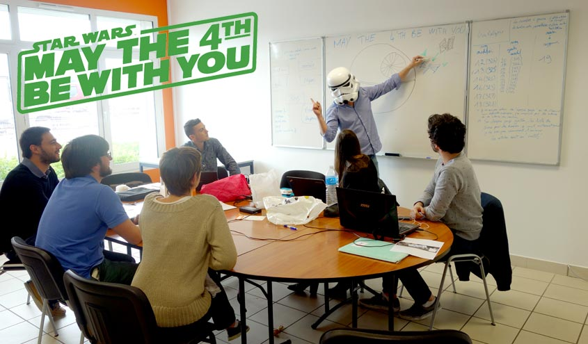 En marketing, savoir bien viser n'est pas donné à tout le monde. Le stormtrooper de l'agence TTMO, expert en la matière, est en pleine formation pour les apprentis padawan du référencement et du SEO, à l'occasion de la journée mondiale Star Wars. May the 4th be with you.